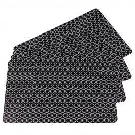 Koopman Körök alátétek fekete 28 x 43 cm, 4 db