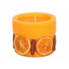 Dekoratív gyertya Narancs és fahéj, henger