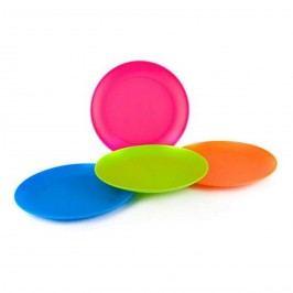4 részes műanyag lapos tányérkészlet