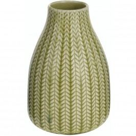 Porcelán váza Knit világos zӧld, 16 cm