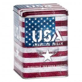 USA fém tárolódoboz, piros