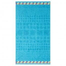 Night in Colours Mozaik törölköző türkiz, 70 x 130 cm