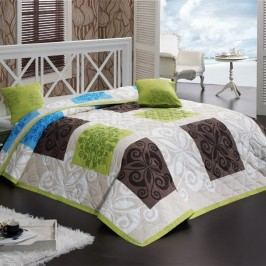Bedtex Sedef ágytakaró zöld 220x240 + 2x 40x40 cm