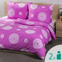 4Home dupla szett ágyneműhuzat Tango rózsaszín, 2x 140 x 200 cm, 2x 70 x 90 cm