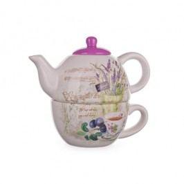 Banquet Lavender Teáskanna csészével