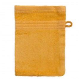 Jahu Bambusz mosdókendő sárga, 14 x 22 cm