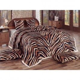 Tip Tradec Bengal ágytakaró, barna, 220 x 240 cm 2 x 40 x 40 cm