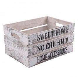 Sweet Home fa tárolódoboz, 40 x 30 cm