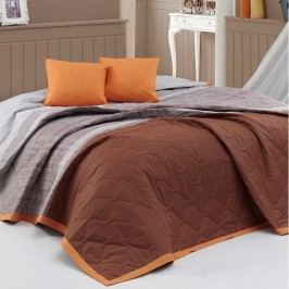 BedTex Spencer ágytakaró barna, 220 x 240 cm, 2 x 40 x 40 cm