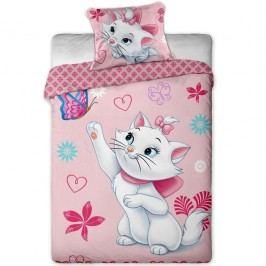 Jerry Fabrics Marie Cat pillangó gyerek pamut ágyneműhuzat, 140 x 200 cm, 70 x 90 cm