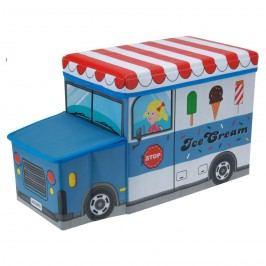 Gyerek puff és tároló Jégkrémes autó