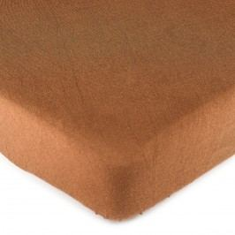 4Home jersey lepedő barna, 160 x 200 cm