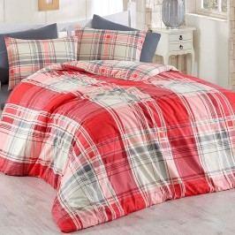 Bed Tex Alexia pamut ágyneműhuzat piros, 160 x 200 cm, 2 db 70 x 80 cm, 160 x 200 cm, 2 db 70 x 80 cm