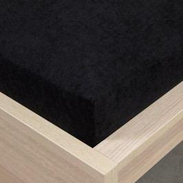 4Home frottír lepedő fekete, 90 x 200 cm