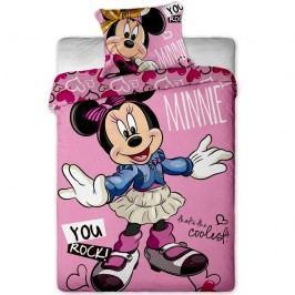 Jerry Fabrics Minnie cool pamut gyerek ágyneműhuzat, 140 x 200 cm, 70 x 90 cm