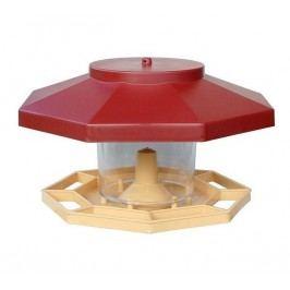 Plastia madáretető piros, 30 cm átmérőjű