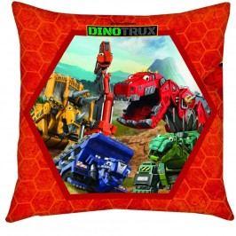 Herding DinoTrux díszpárna piros, 40 x 40 cm