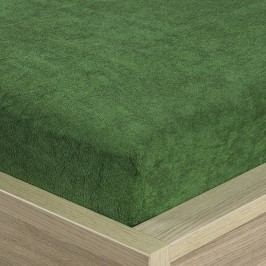 4Home frottír lepedő olivazöld, 90 x 200 cm, 90 x 200 cm