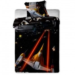 Jerry Fabrics Gyermek pamut ágynemű garnitúra, Star Wars Spaceship, 140 x 200 cm, 70 x 90 cm