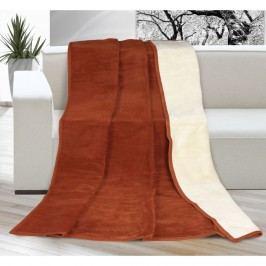Bellatex Kira pléd terrakotta/bézs, 150 x 200 cm, 150 x 200 cm