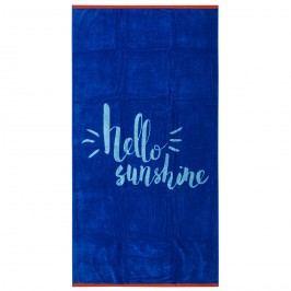 TipTrade Hello Sunshine strandtörölköző kék, 90 x 170 cm