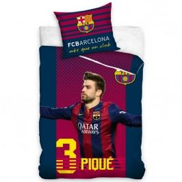 Tip Trade FC Barcelona Pique pamut ágyneműhuzat, 160 x 200 cm, 70 x 80 cm