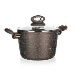 Banquet Edény fedővel tapadásmentes felülettel Premium Dark Brown 20 cm