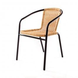 Happy Green PE Ratan kerti szék