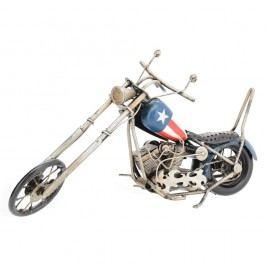 Chopper dekorációs motorkerékpár modell, kék