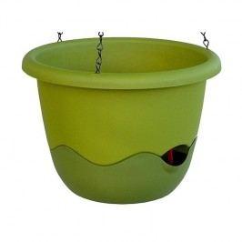 Mareta 30 önöntöző virágtartó, zöld, függesztett, 30 cm átmérőjű