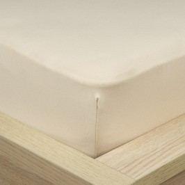 4Home Jersey lepedő elasztánnal bézs színű, 160 x 200 cm