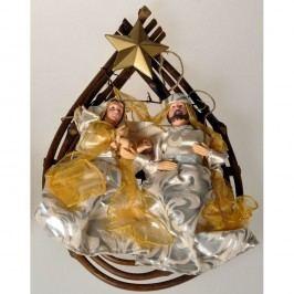 Felakasztható dekoráció Szent család, arany