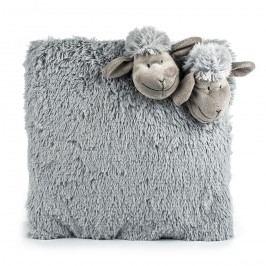 BO-MA Trading Bárányka szürke párna, 35 x 35 cm