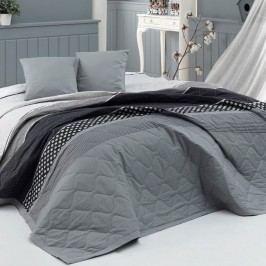 BedTex Eiffel ágytakaró szürke, , 220 x 240 cm, 2 x 40 x 40 cm