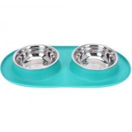 Bowl dupla etetőtál kutyáknak, kék