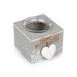 Love Winter gyertyatartó szürke, 8 x 9 cm