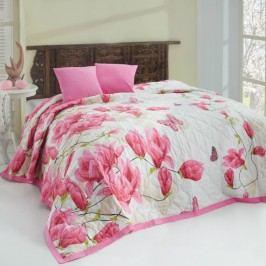 Bedtex Alize pink ágytakaró, 220 x 240 cm, 2 x 40 x 40 cm