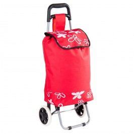 Flower kerekes bevásárlótáska, piros