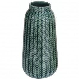 Porcelán váza Knit sӧtét zӧld, 24,5 cm