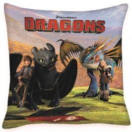 Így neveld a sárkányodat - Hablaty és Astrid párna, 40 x 40 cm