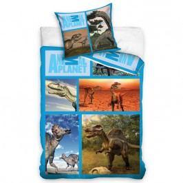Carbotex Animal Planet - Dinosauruszok pamut ágyneműhuzat, 140 x 200 cm, 70 x 80 cm, 140 x 200 cm, 70 x 80 cm