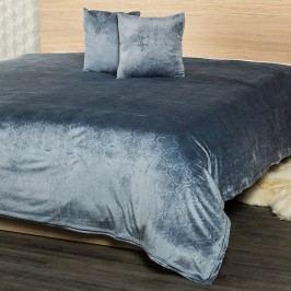 4Home ágytakaró Salazar szürke kék, 220 x 240 cm, 2x 40 x 40 cm