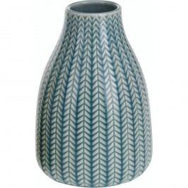 Porcelán váza Knit türkiz, 16 cm