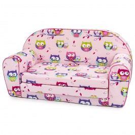 Bino Mini kanapé Baglyok rózsaszín