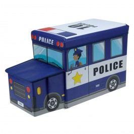 Gyerek puff és tároló Rendőrautó