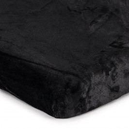 Jahu Mikroplüss lepedő fekete