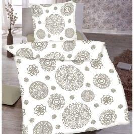 Jahu Mandala pamut ágyneműhuzat fehér, 140 x 200 cm, 70 x 90 cm