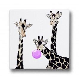 Butter Kings Friendly Giraffes Kép vásznon