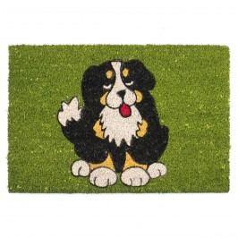 Kókusz lábtörlő fekete kutya 358 zöld 40 x 60 cm