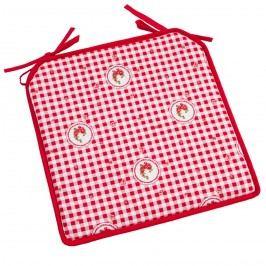 Country székpárna kocka piros, 40 x 40 cm